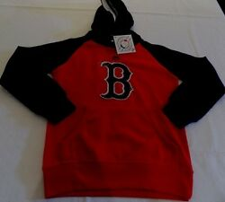 Boston Red Sox Youth Hoodie Youth Small Red Navy Trim Embroidered Majestic Mlb