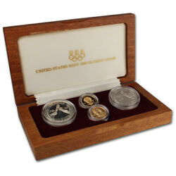 1988 Us Olympic Games 4-coin Commemorative Set