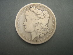1897- O Morgan Silver Dollar Over 120 Years Old / Part Of U. S. History
