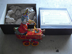 Rare Tucher And Walther Happy Streetwalker Duck Cart Windup Toy In Box 9 Coa Le