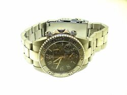 Oceanaut Armada Ar 4004 Chronograph Stainless Steel Manand039s Watch -40 Mm-used-nice