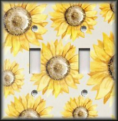 Metal Light Switch Plate Cover - Sunflower Home Decor Floral Switch Plate Cover