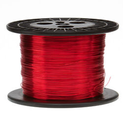 16 Awg Gauge Heavy Copper Magnet Wire 5.0 Lbs 625' Length 0.0538 155c Red
