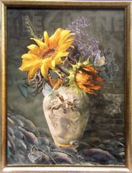 Antal Goldfinger The Beating Of My Heart Sunflower Giclee Canvas Hand Signed