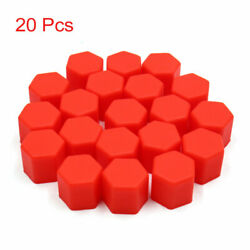 20 Pcs 17mm Red Silicone Car Wheel Hub Screw Cover Bolt Protector Nut Cap