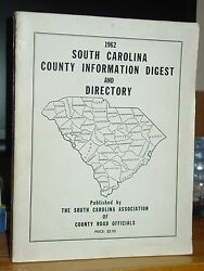 1962 South Carolina County Information Digest And Directory, Vintage Ads, Rare
