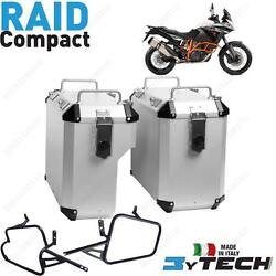 Suitcases Aluminum Silver Mytech 33+ 39 L And Frames For Ktm 1190 Adventure Abs 13