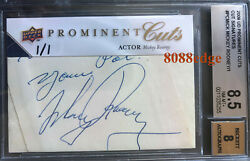 2009 Ud Prominent Cuts Psa/dna Auto Mickey Rooney 1/1 Of Cut Autograph Bgs 8.5