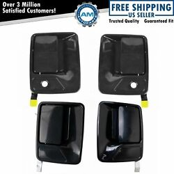 Front And Rear Exterior Door Handles Paint To Match Kit Set Of 4 For Ford Truck