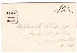 Sacoyork Countymaine-stampless-boxed-black-mar/16/1832-f.l.s.-minor Edge Wear