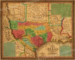 1835 Texas Indian Territory amp; Mexican States Map Wall Map 20x24
