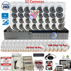 32 Channel Complete Outdoor Indoor Security Surveillance Camera System With 4tb