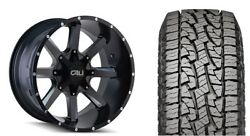 20 Cali Offroad 9100 Busted Black Wheels 33 At Tires Package 5-150 Fits Tundra