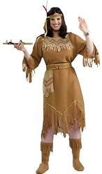 Forum Novelties Womenand039s Native American Indian Maid Plus Size Costume Brown