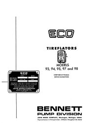 Factory Troubleshooting Guide Eco Tireflator 93 94 95 97 98 Air Tire Meter