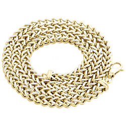 10k Yellow Gold 3d Diamond Cut Hollow Franco Box Chain 6.2mm Necklace 24-30 Inch