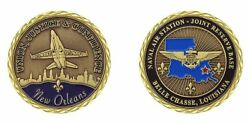 Navy Nas Jrb Naval Air Station New Orleans 1.75 Challenge Coin