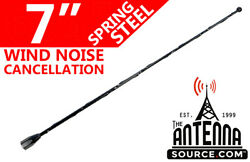 7 Black Spring Stainless Am/fm Antenna Mast Fits 1985-1989 Plymouth Reliant