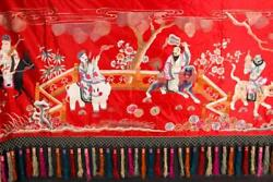 NobleSpirit {3970} Valuable Chinese Silk Tapestry with Tassels 40x134