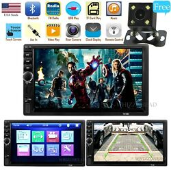 Double Din in Dash Head Unit Car Stereo Audio Bluetooth 7 inch Touch Screen MP5
