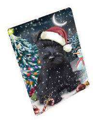 Holly Jolly Christmas Scottish Terriers Dog Woven Throw Sherpa Blanket T163