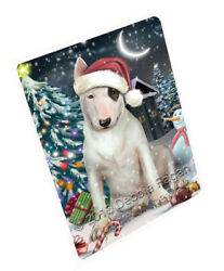 Holly Jolly Christmas Bull Terrier Dog Woven Throw Sherpa Blanket T22