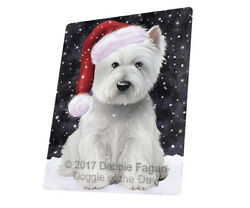 Let it Snow West Highland White Terrier Dog Woven Throw Sherpa Blanket T38