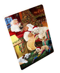 Wheaten Terriers Dog and Puppies Sleeping Santa Woven Throw Sherpa Blanket T159
