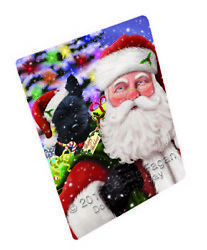 Jolly Old Saint Nick Santa Scottish Terrier Dog Woven Throw Sherpa Blanket T51