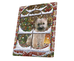 Please Come Home For Christmas Cairn Terrier Woven Throw Sherpa Blanket T330