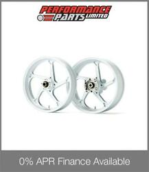 Galespeed Gp1s Curved 5 Spoke White Forged Alloy Wheels Bmw S1000rr 2013
