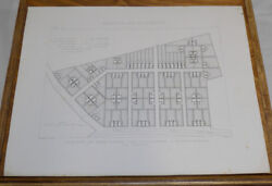 1872 Antique Print//layout Of Mining Company Town, North D'aniche Mine, France/a