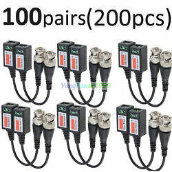 100 Pairs -yp45 Cctv Passive Transceiver Video Balun Twisted Bnc Connector Cable
