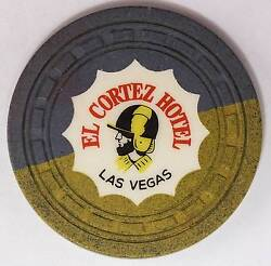 1941 EL Cortez Hotel $1 4th Edition Casino Gaming Chip Las Vegas NV