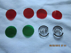 1957 Chevy Dash Indicator Lens Kit With Oil And Generator Lenses
