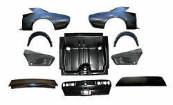 Quarter Panel Kit 67 10pc Trunk Pan Lid Rear Body Deck Filler Drop **In Stock!**