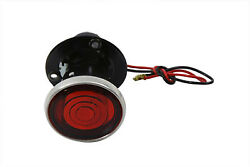 Black 2 Round Tail Lamp With Bulb For Harley-davidson