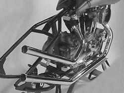 Upsweep Straight-cut Drag Pipes For Harley-davidson Sportster Ironhead 1957-1985