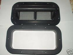 Two Way Vent With Trim Black Trailer Camper Rv Plastic