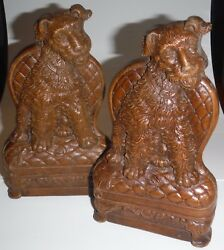 Sweet Vintage Scottie Dog Bookends - Scottish Terriers in Cushy Chairs - Detail