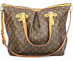 Auth LOUIS VUITTON PALERMO GM MONOGRAM CANVAS HAND BAG AUTHENTIC LV BROWNS TOTE