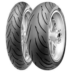 Continental Front And Rear Motorcycle Tire Set Conti-motion 120/70-17 And 180/55-17