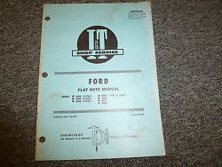 Ford 5000 7000 8000 9000 2000 3000 4000 Tractor Flat Rate Manual Book