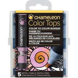 Chameleon Color Tops Marker Set 5Pkg-Pastel Tones