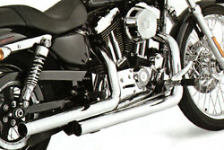 Exhaust Drag Pipe Set Stagger Shots Dual For Harley-Davidson