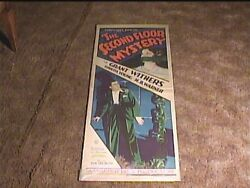 Second Floor Mystery 1930 Insert 14x36 Movie Poster Loretta Young