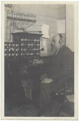 1915 REAL PHOTO Telephone Switchboard Operator - Vintage Historic Postcard