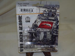 Wwii Micro Armour Ghq War Games 1/285 Scale Uk-63 17 Pdr At W/ Crusader Pm