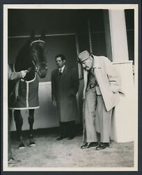 1963 Gaelic Poses With Legendary Trainer Sunny Jim Fitzsimmons Photo