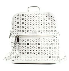 Michael Kors NEW White Cutout Rhea Saffiano Slim Designer Backpack Bag $278- #02